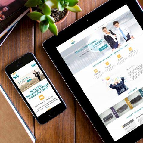 עיצוב אתר לחברת הייטק nvu systems